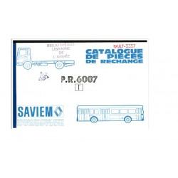 Catalogue de pièces de rechange Saviem - Renault SM8 / TRM 4000