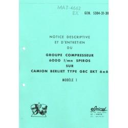 Notice descriptive et d'entretien - Groupe compresseur SPIROS 6000L/min