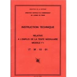 Instruction technique relative à l'emploi de la tente modulaire modèle F1