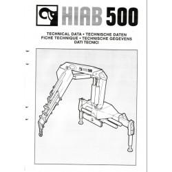 Fiche technique Grue HIAB 500