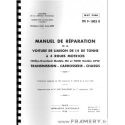 MANUEL Réparation JEEP Willys
