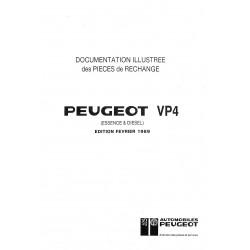 Documentation illustrée des pièces de rechange PEUGEOT P4