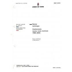 NOTICE TECHNIQUE TRM 2000
