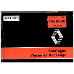 CATALOGUE PIECES DE RECHANGE TRM 10000